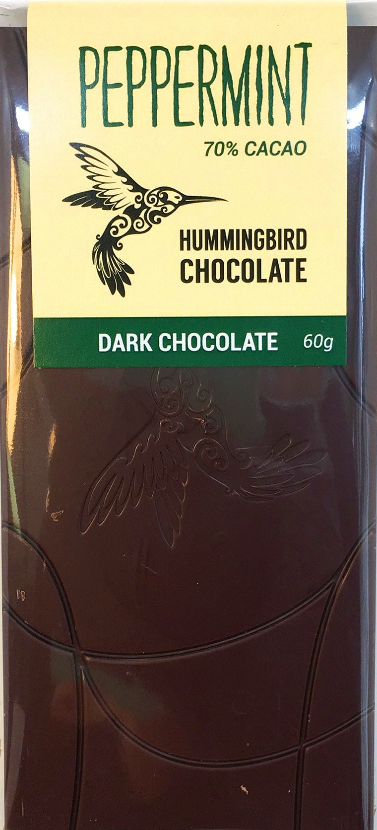Hummingbird 70% Dark Chocolate with peppermint - Chocolate Collective Canada
