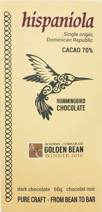 Hummingbird Hispaniola 70% Dark Chocolate (Organic) - Chocolate Collective Canada