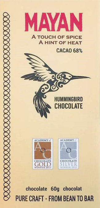 Hummingbird Mayan 68% Dark Chocolate with chili & spices - Chocolate Collective Canada