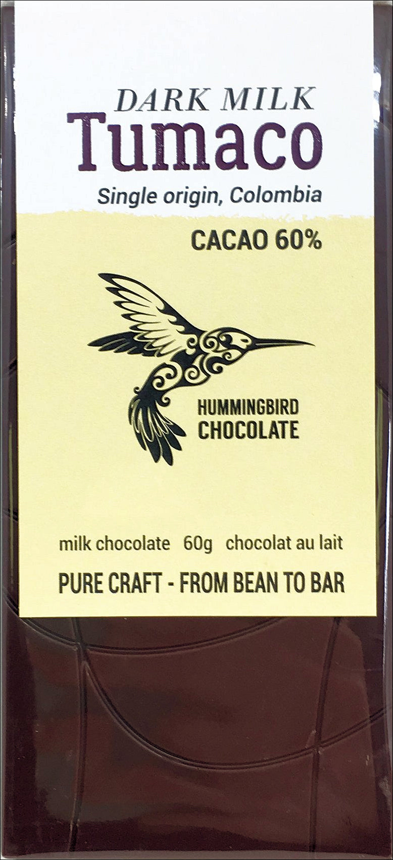 Hummingbird Tumaco Colombia 60% Milk Chocolate - Chocolate Collective Canada