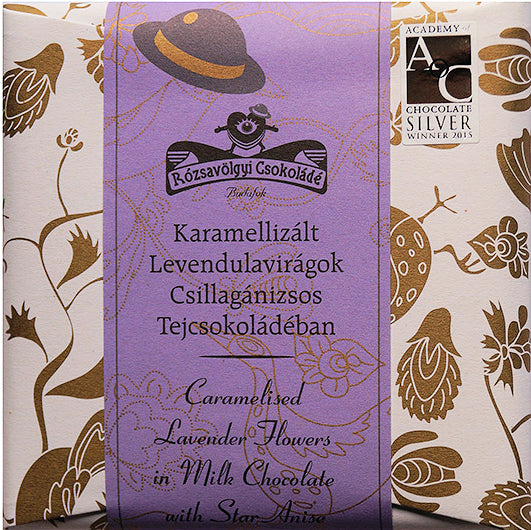 Rozsavolgyi 40% Milk Chocolate with caramelized lavender & star anise - Chocolate Collective Canada