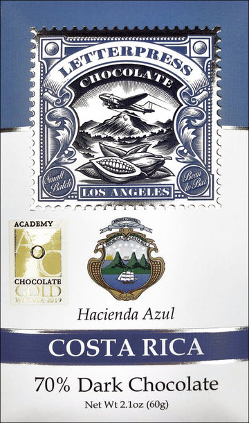 Letterpress Costa Rica 70% Dark Chocolate (Organic) - Chocolate Collective Canada