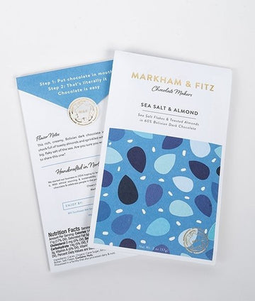 Markham & Fitz Bolivian 60% Dark Chocolate with sea salt & toasted almonds - Chocolate Collective Canada