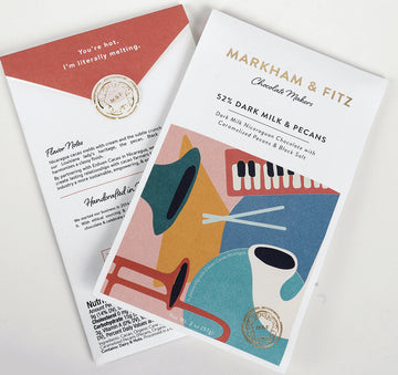 Markham & Fitz Nicaragan 52% Milk Chocolate with carmalized pecans & black salt - Chocolate Collective Canada