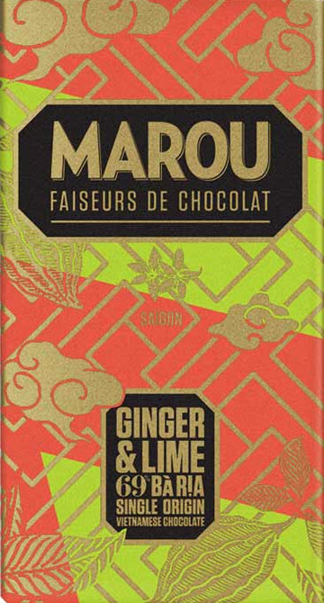 Marou Ba Ria 69% Dark Chocolate with ginger & lime