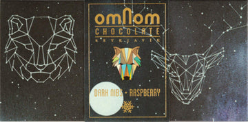 Omnom Nibs + Raspberry 58% Dark Chocolate - Chocolate Collective Canada