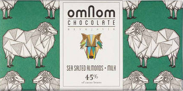 Omnom 45% Milk Chocolate with sea salted almonds