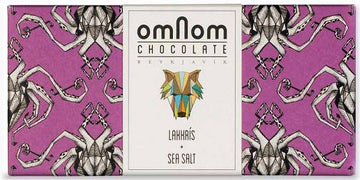 Omnom 38% White Chocolate with liquorice & sea salt - Chocolate Collective Canada