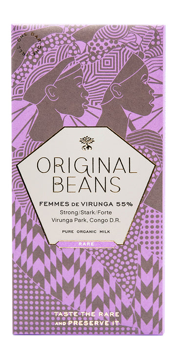 Original Beans Femmes de Virunga 55% Milk Chocolate (Organic)