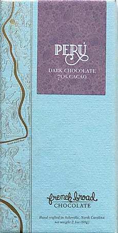 French Broad Peru 70% Dark Chocolate - Chocolate Collective Canada