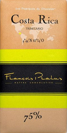 Francois Pralus Coasta Rica 75% Dark Chocolate - Chocolate Collective Canada