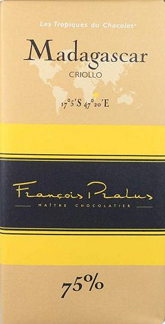 Francois Pralus Madagascar 75% Dark Chocolate - Chocolate Collective Canada