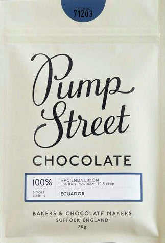 Pump Street Hacienda Limon Ecuador 100% Dark Chocolate
