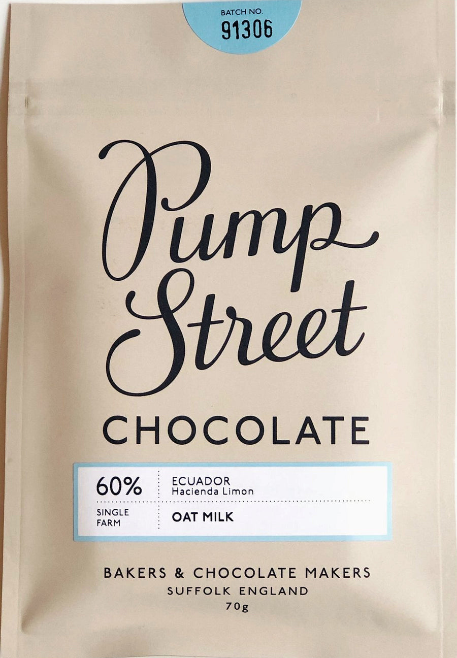 Pump Street Ecuadorian 60% Oat Milk Chocolate (Vegan) - Chocolate Collective Canada