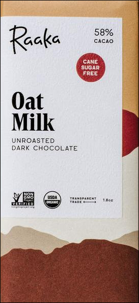 Raaka 58% Oat Milk Chocolate (Organic) (Vegan) - Chocolate Collective Canada