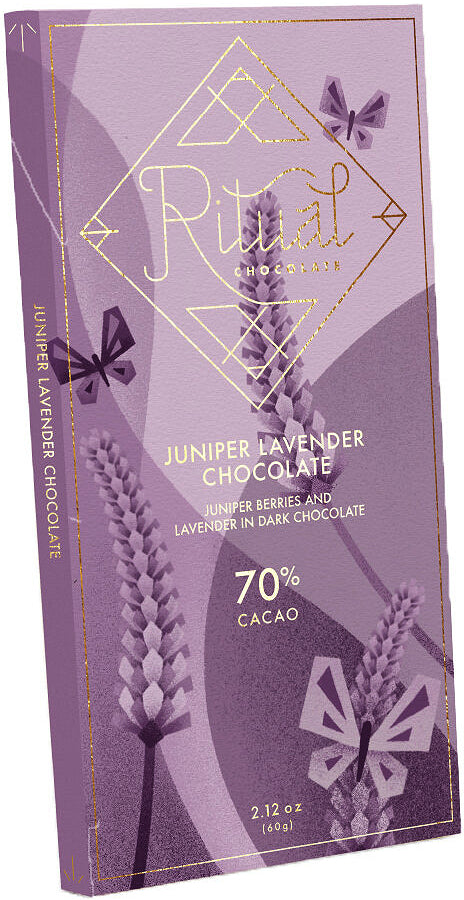 Ritual 70% Dark Chocolate with juniper berries & lavender