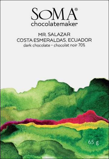 Soma Costa Esmeraldas Ecuador 70% Dark Chocolate - Chocolate Collective Canada