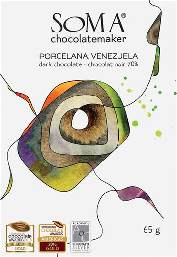 Soma Porcelana Venezuela 70% Dark Chocolate - Chocolate Collective Canada