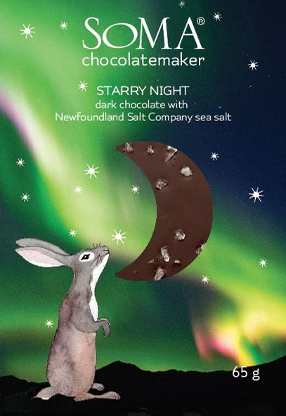 Soma Starry Night Dark Chocolate with sea salt - Chocolate Collective Canada
