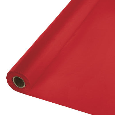 Classic Red Plastic Table Cover 100'