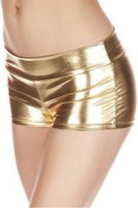 Metallic Booty Shorts with Waistband* -Music Legs