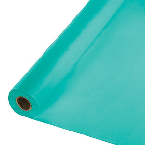Teal Plastic Table Cover 100'