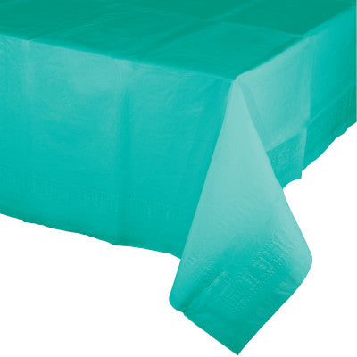 Teal Rectangular Paper Table Cover