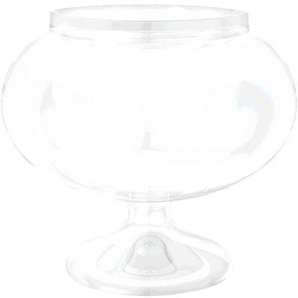 Clear Short Round Pedestal Jar