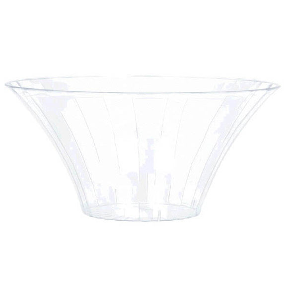 Clear Plastic Flared Bowl