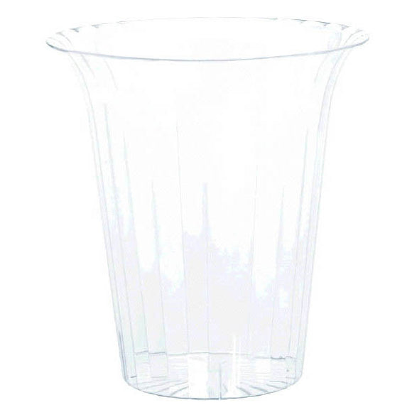 Clear Medium Flared Cylinder