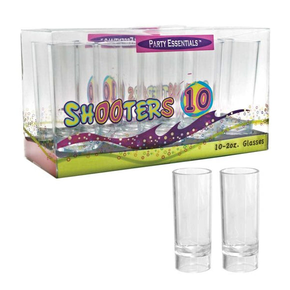2oz. Shooter Glasses Box Set- Clear 10ct.