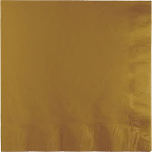 Glittering Gold Luncheon Napkins