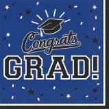 Navy Blue Graduation Napkin
