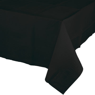Black Velvet Rectangular Paper Table Cover