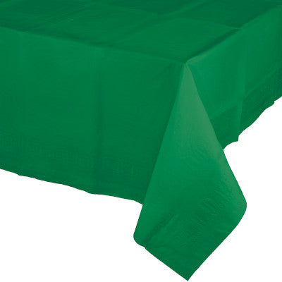 Emerald Green Rectangular Paper Table Cover