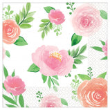 Sweet Floral Girl Beverage Napkins