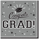 Grey Graduation Napkin