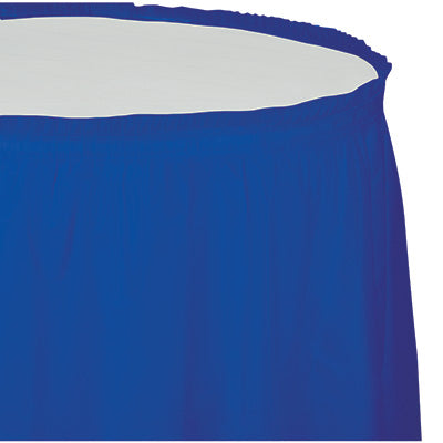 Cobalt Plastic Table Skirt