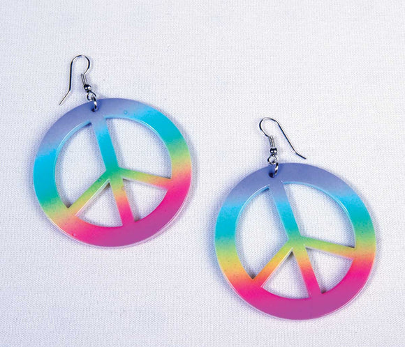 Rainbow Peace Earrings