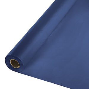 Navy Plastic Table Cover 250'