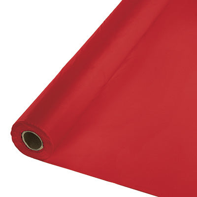 Classic Red Plastic Table Cover 250'