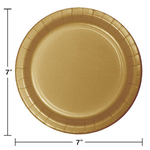 "Glittering Gold Paper 7"" Cake Plates"