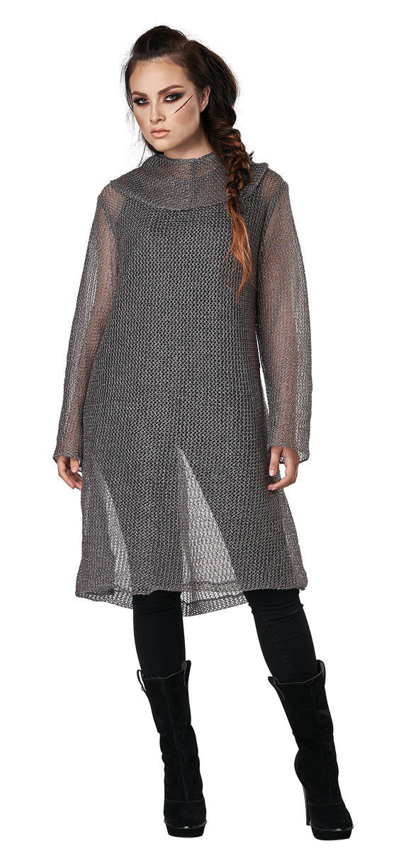 Metallic Knit Chainmail With Tunic