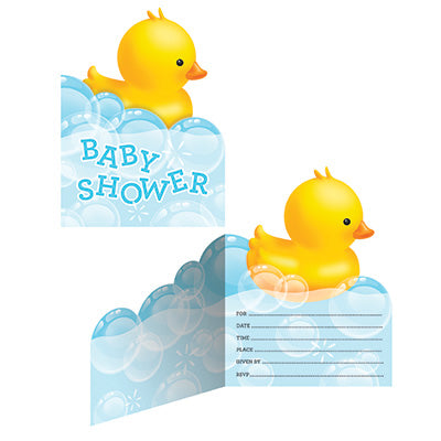 Bubble Bath Ducky Baby Shower Invitations