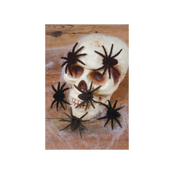 Mini Hairy Spiders 6 ct