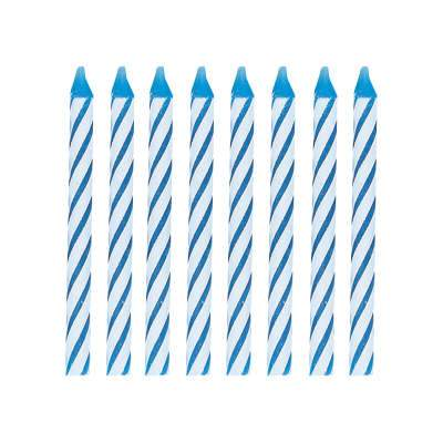 Blue Spiral Birthday Candles 24ct