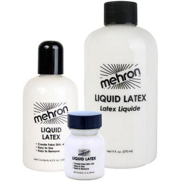Mehron Clear Liquid Latex 3 sizes