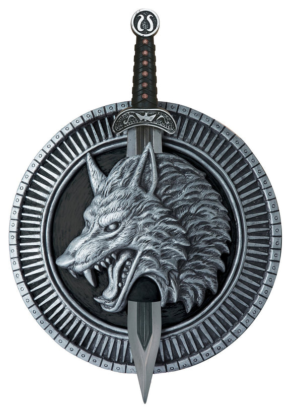 Wolf Shield with detailed Sword