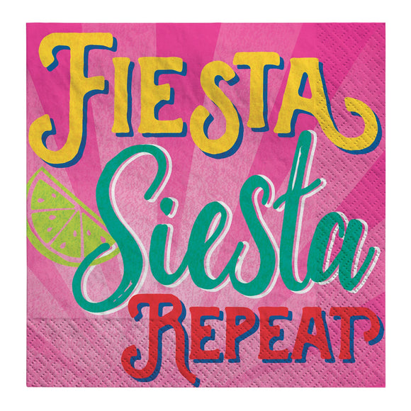 Fiesta Siesta Repeat Beverage Napkins