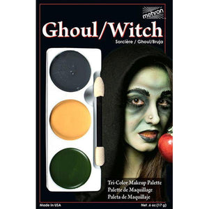 3 Color Ghoul/Witch Makeup Palette Mehron